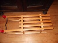 Wooden Snow Sledge