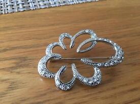 Ladies silver brooch