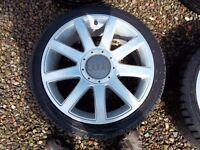"""Audi A2 17"""" alloys with tyres."""