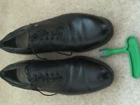 Leather foot joy golf shoes- size 10.5