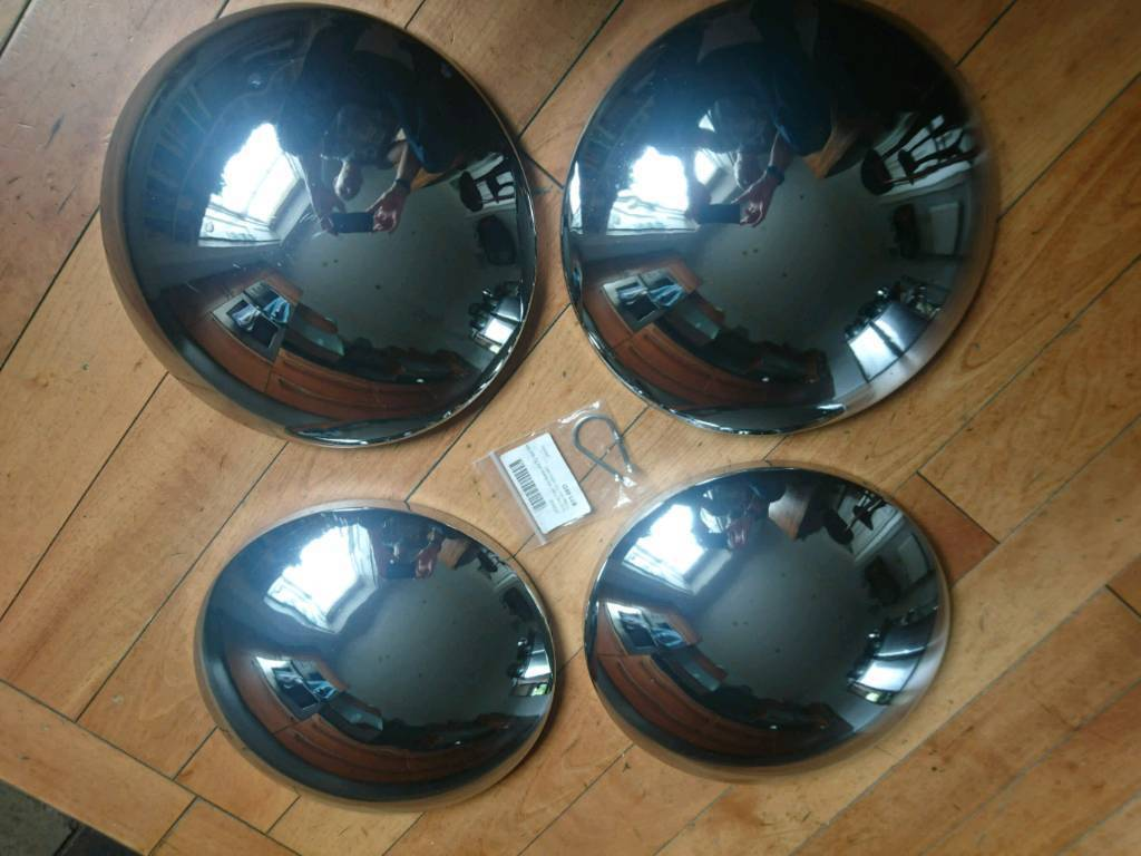 Baby Moon Hubcaps For Vw Beetle T2 T25 T3 In