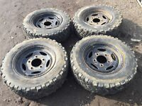 "Landrover defender / discovery 16"" steel wheels - good tyres"
