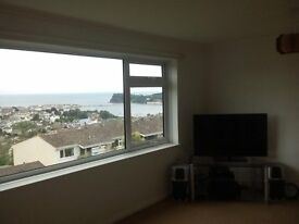 2 bedroom flat for rent Teignmouth, Devon with fantastic sea view £595.00 pcm