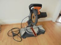 Evolution Mitre Chopp saw 220V good working condition with blade used not bosch or makita