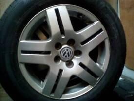 VW 195/65r15 5 stud alloy wheel