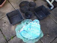 Aquatic Plant Pots and some aquatic soil