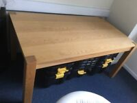 Large Oak Table, suitable for dining table or hobby table