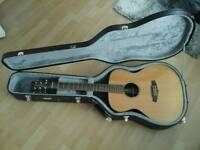 tanglewood java TWJFE ELECTRIC acoustic optional tanglewood case mint fish man preamp