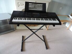 Casio CTK-6200 Keyboard and stand