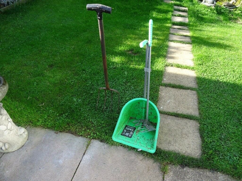 Tubtrugs tidee manure scoop and manure fork - horse manure scoop