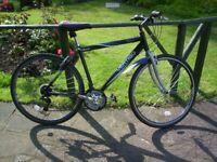 """Vertigo Bilbao Aluminium City Bike - 18 Gears, 21"""" frame + saddle, light, fast"""