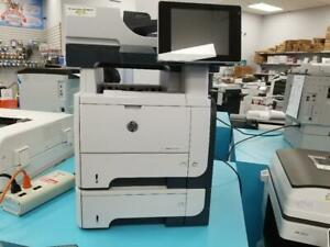 Repossessed Hp Laserjet Enterprise 500 M525F Monochrome MFP Multifunctional Printer, Scanner,Print speed of 42 PPM.