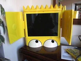 Very Rare Bart Simpson Television With Remote & Instructions Excellent Condition