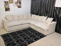 --- SAME DAY & NEXT DAY DELIVERY AVAILABLE --- NEW LIVERPOOL JUMBO CORDED CORNER SOFA AVAILABLE NOW