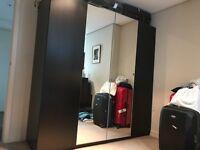 Black/brown PAX wardrobe