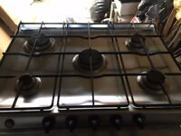 5 ring gas hob used working