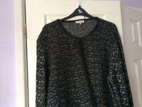 Black sparkle oversized cardigan