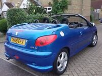 PEUGEOT 206 CC 2056 COVNERTIBLE 2005 REG VERY LOW MILEAGE IN SUPERB CONDITION