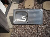 stainless. steel inset sink £5