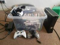 Xbox 360 s with Kinect camera and 30 games