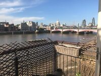 Very Large two bed four person apartment on London's SouthBank, with riverview and security