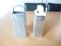 "9"" BOX GRATER STAINLESS STEEL CHEESE FRUIT VEGETABLE SLICER SHREDDER"