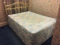 Double Divan bed with metal head frame