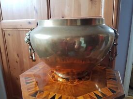 Very large brass bowl