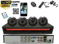 4 full HD 2.4 M pixel Outdoor Cameras 4Ch AHD 1080 CCTV with 1 TB HDD System Plug &Play P2Psystem