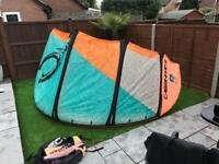 Cabrinha 9m Nomad kite complete with bar and lines