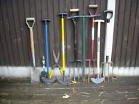 QUALITY GARDEN TOOLS AS SHOWN IN PHOTO .