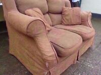 2 Seat Sofa With Washable covers Delivery Available £10