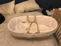 Used, Baby Moses basket for sale  Leighton Buzzard, Bedfordshire