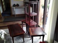 Coffee table, 2 lamp tables & corner unit