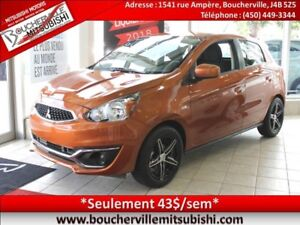 2017 Mitsubishi Mirage ES PLUS *AIR CLIMATISÉ, MANULLE*