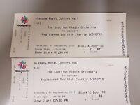 2 Scottish Fiddle Orchestra tickets for sale
