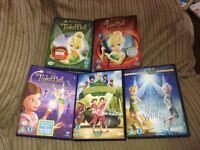 Disney tinkerbell dvd bundle