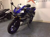 Yamaha YZF R 125 Sports Motorcycle, ABS, Alarm, Akrapovic Exhaust, Good Cond, ** Finance Available**