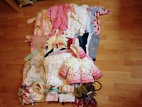 Large Bundle of Baby Girl Clothes 3-6 months, lovely condition - 71 items