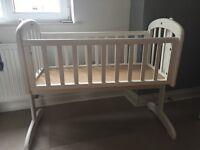White Swinging Crib John Lewis & premium matterss