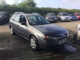 2004 AUTOMATIC NISSAN ALMERA LOW MILEAGE IN METALLIC GREY LOVELY DRIVER LONG MOT ANYTRIAL PX WELCOME