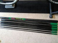 selection of poles and fishing rod