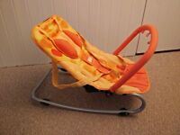 free simple merry orange baby rocker with arch for hanging toys