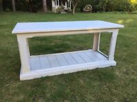 Shabby Chic Solid Pine Light Grey Coffee Table