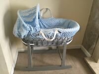 Gorgeous Moses basket and rocking stand