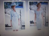 Ispirato Mother of the Bride/Groom Wedding Outfit in Pastel Blue size 10