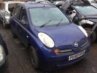 2003 5dr Nissan Micra breaking all parts for sale