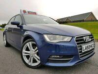 (Scuba Blue) Sep 2013 Audi A3 2.0 Tdi 150bhp Sportback S Line Spec! £20 Tax! D.A.B. FINANCE/WARRANTY