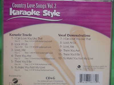 Country Love Songs Vol 2 Karaoke Style for sale  Yarmouth