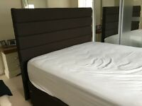 King size divan base with matching headboard